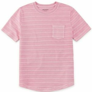 NWT Arizona Jeans boy's Preppy Pink T-Shirt. XL 18
